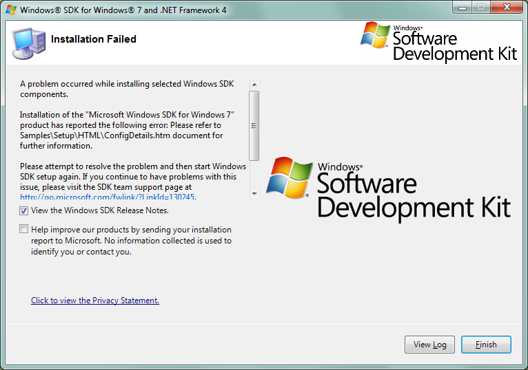 Windows SDK Install FAIL.png