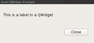 QWidget Example